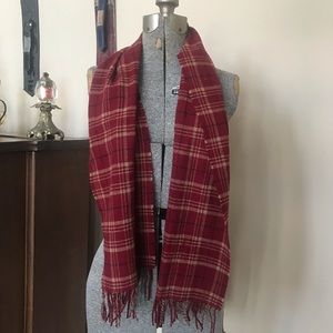 PENDLETON Flannel Plaid Wool Scarf